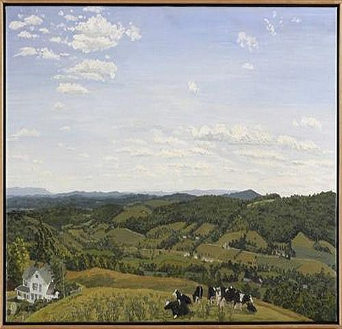 RACKSTRAW DOWNES (b. 1939): FROM THE HILL BEHIND