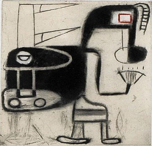 DAVID STOREY (b. 1948): UNTITLED Etching on paper,