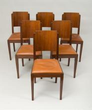 Six Art Deco Dinning Chairs