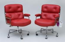 Charles & Ray Eames / Herman Miller, Pair of ''Lobby'' Armchairs
