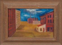 Joe Wolins (1915-1999): Untitled (View of Poughkeepsie); and Untitled (Poughkeepsie Factories)
