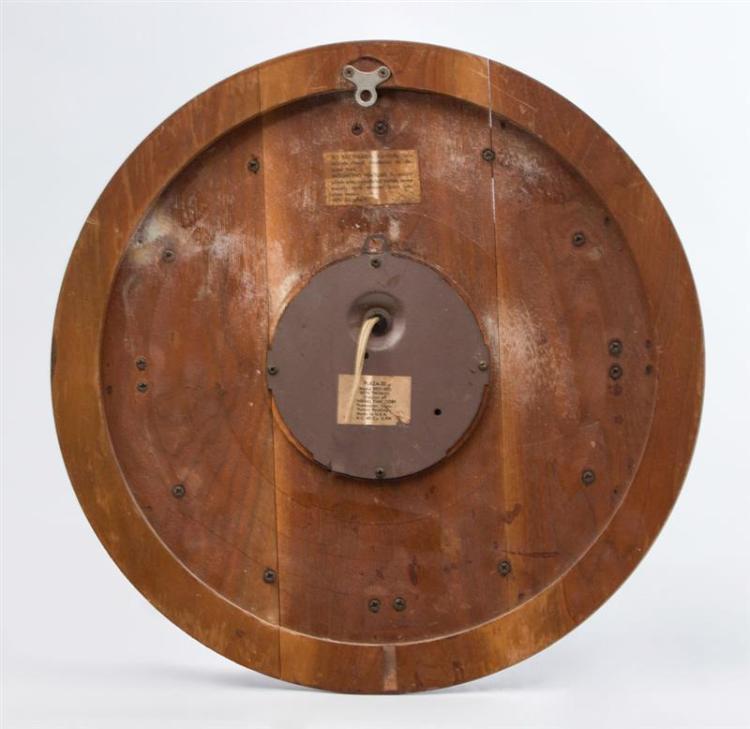 seth thomas mid century modern wall clock
