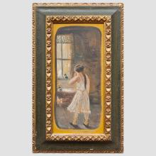 Attributed to Louis Michael Eilshemius (1864-1941): Figure by a Window