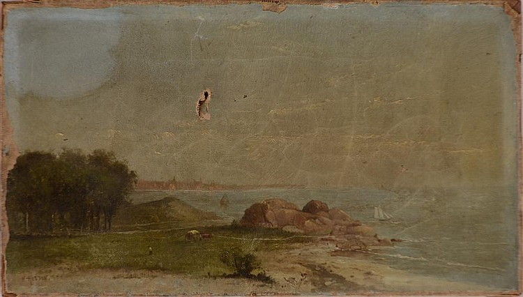 William Huston (American, 19th C.): Long Island Shore