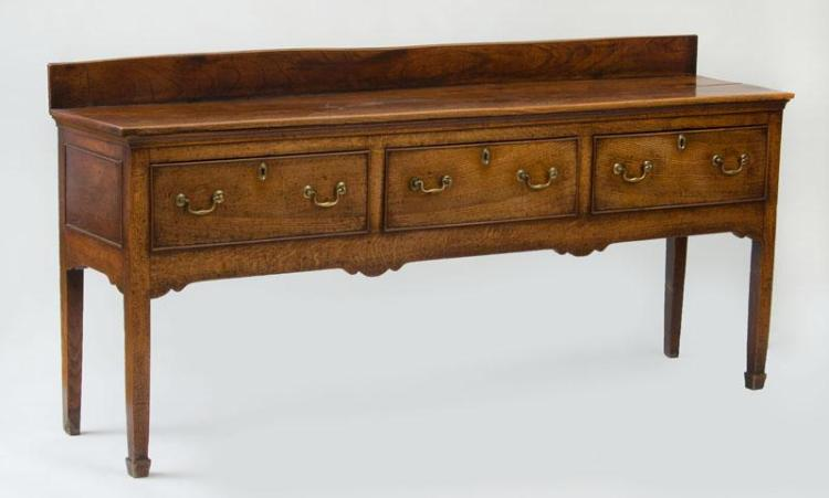 ENGLISH ELM AND OAK WELSH DRESSER BASE
