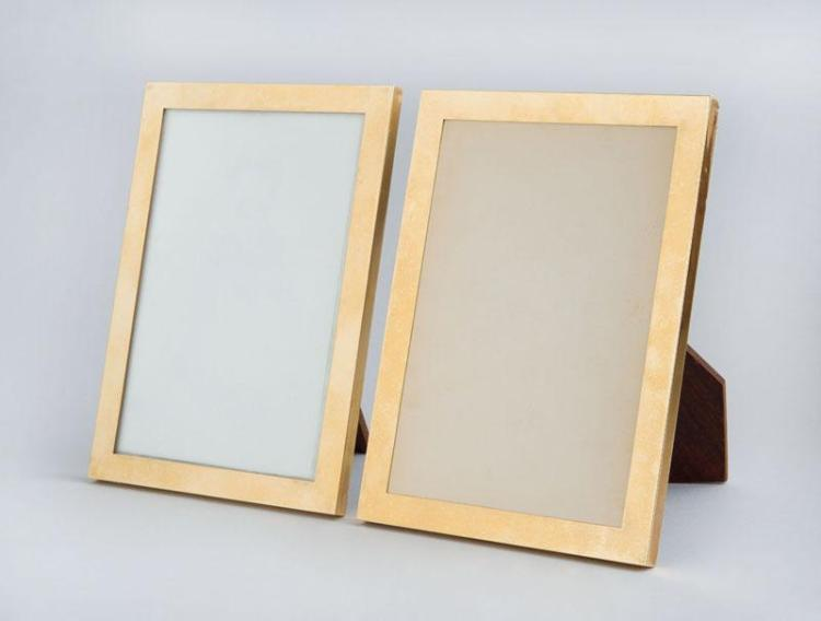 PAIR OF CARTIER 14K GOLD RECTANGULAR PICTURE FRAMES