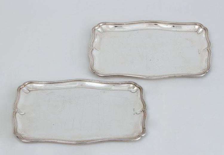PAIR OF AUSTRIAN (800) SILVER SMALL TRAYS