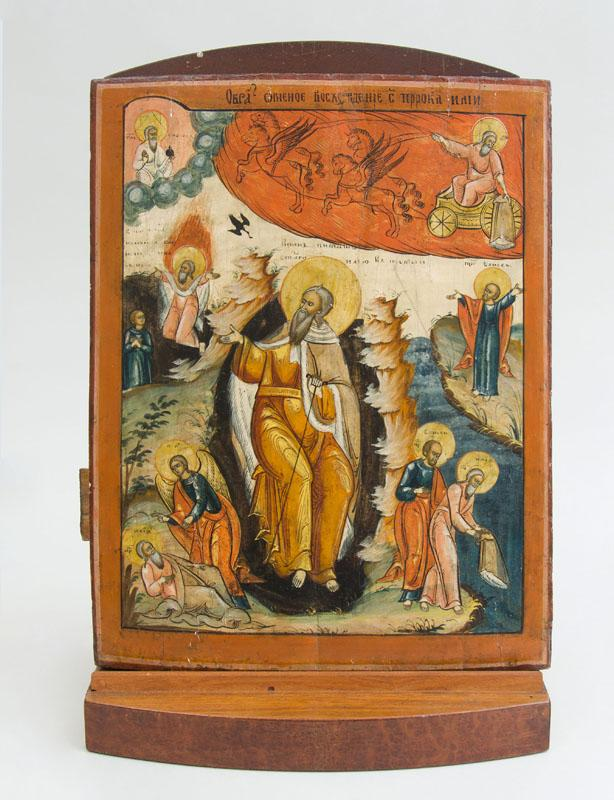RUSSIAN ICON WITH SCENE FROM THE LIFE OF A SAINT
