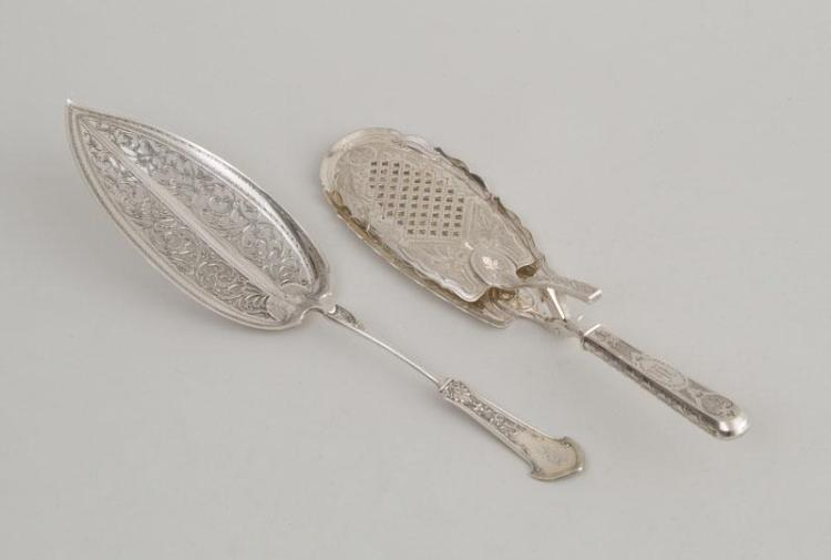 TWO AMERICAN SILVER SERVERS