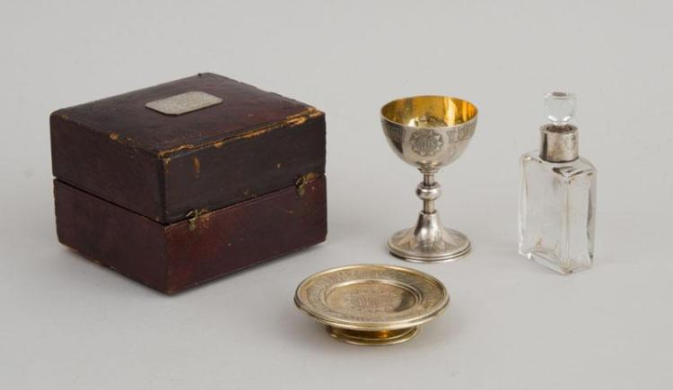 AMERICAN SILVER TRAVELING COMMUNION SET