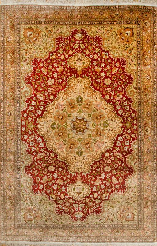 PERSIAN SILK MEDALLION CARPET