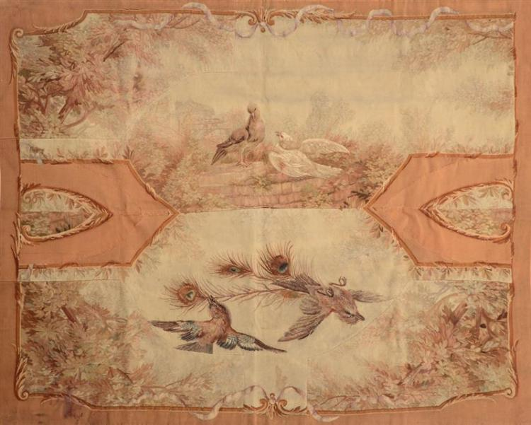 AUBUSSON PIERCED TAPESTRY FRAGMENT
