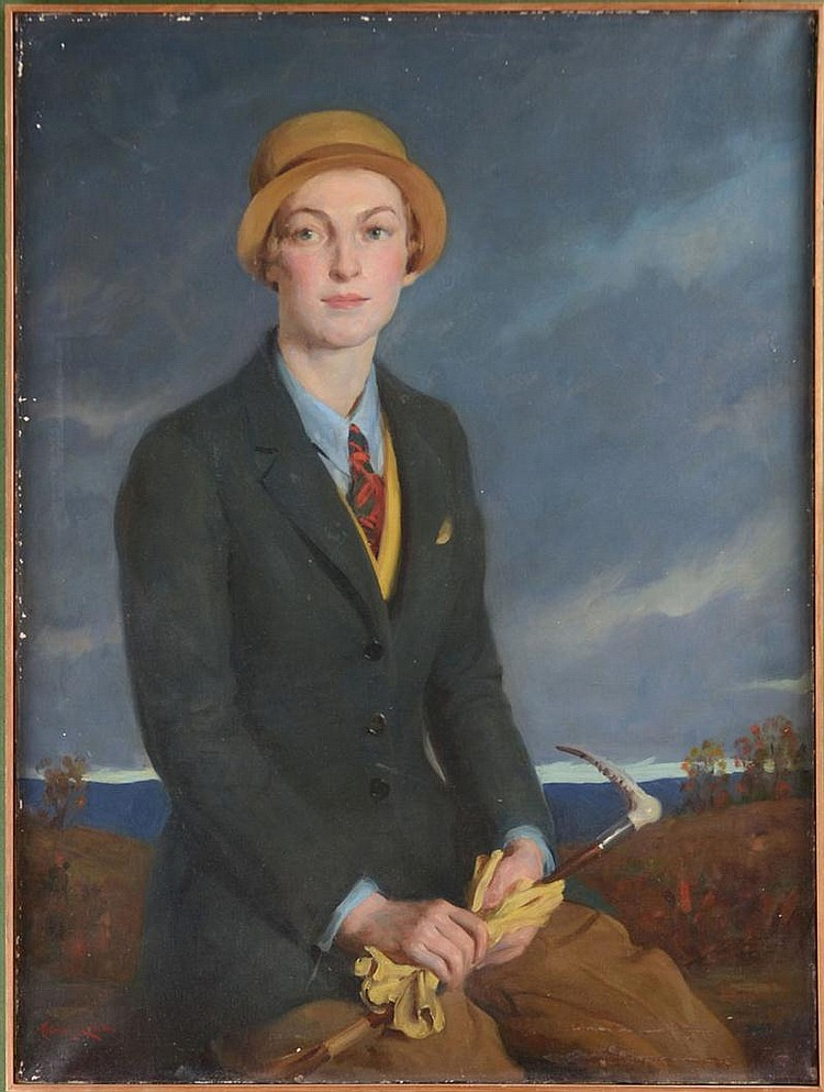 Adrian Lamb (American, 1901-1988): Portrait of a Lady