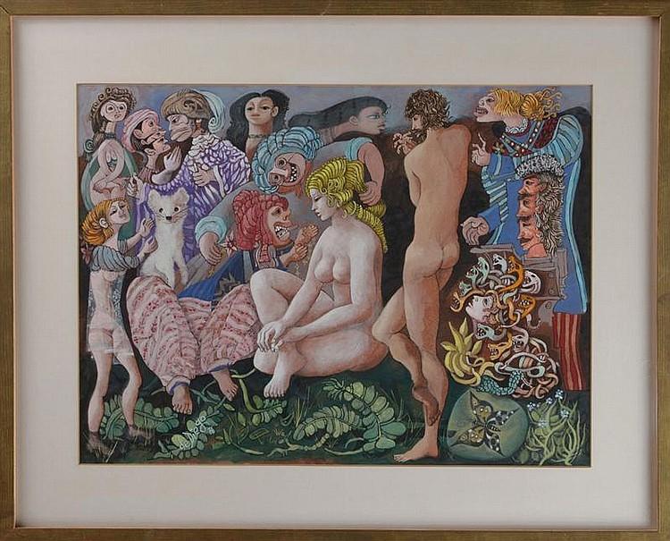 Julio De Diego (Spanish/American, 1900-1979): Oriental Espress Paris-Istanbul