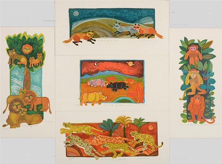 Judith Bledsoe (American, b. 1928): Animals