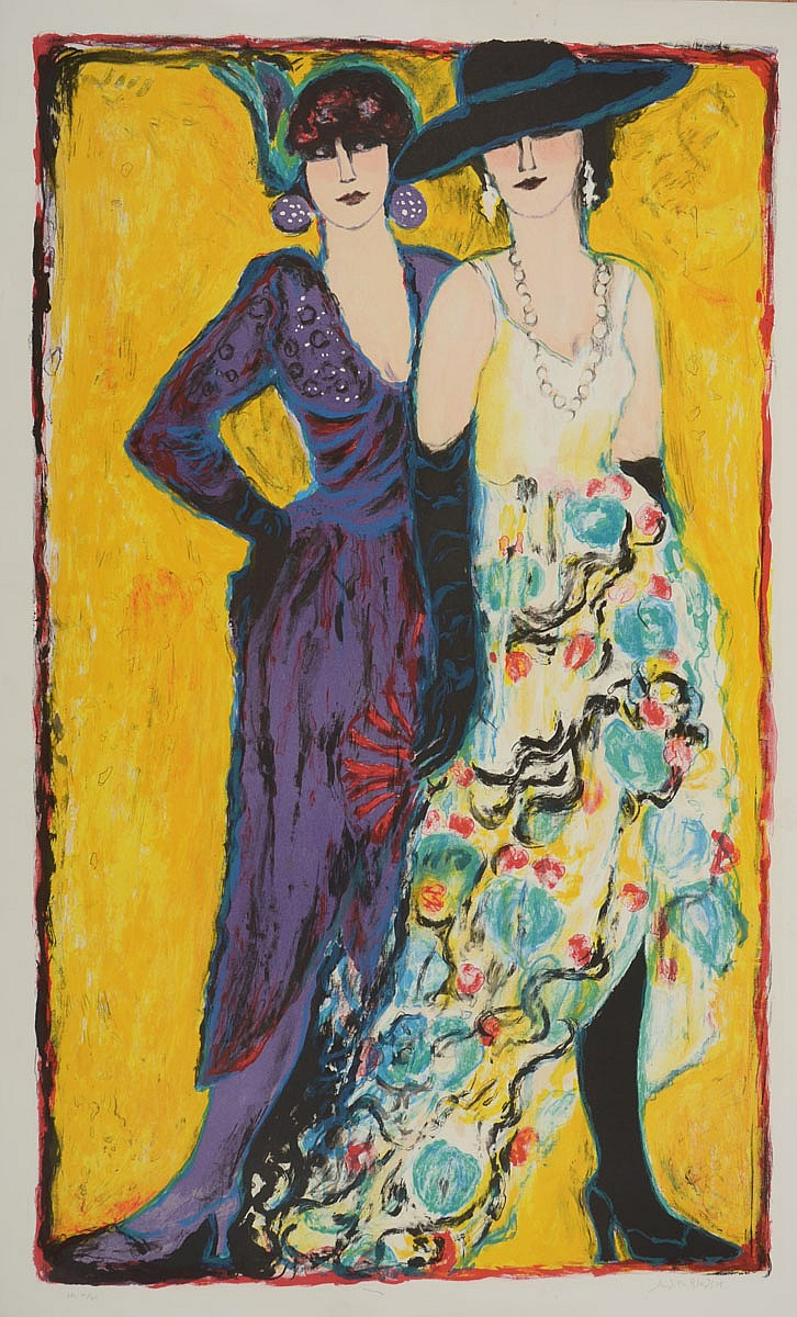 Judith Bledsoe (American, b. 1928): Fashionable Ladies