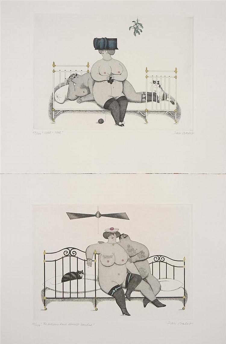 Jan Balet (German/American, 1913-2009): Nude Scenes