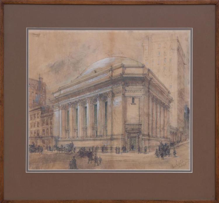 CASS GILBERT (1859-1934): STUDY FOR THE SUFFOLK SAVING BANK