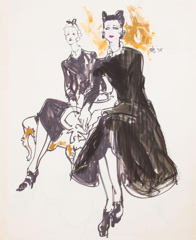 KENNETH PAUL BLOCK (1924-2009): THE DUCHESS OF WINDSOR AND LADY MENDL: TWO SKETCHES