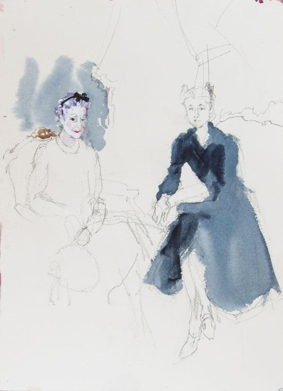 KENNETH PAUL BLOCK (1924-2009): THE DUCHESS OF WINDSOR AND LADY MENDL