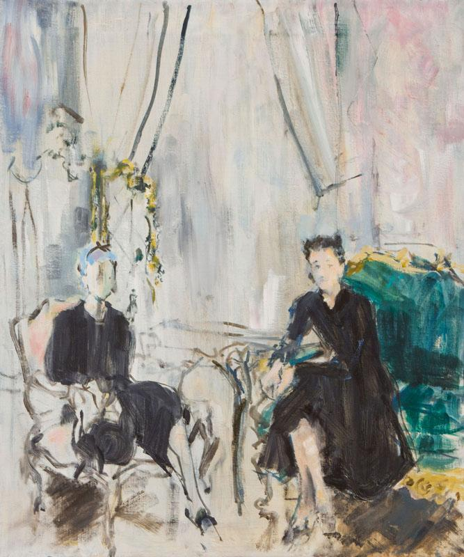 KENNETH PAUL BLOCK (1924-2009): THE DUCHESS OF WINDSOR AND LADY MENDL (ELSIE DE WOLFE)