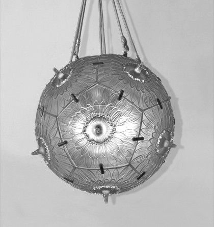Important French Art Deco Chandelier by Rene Lalique