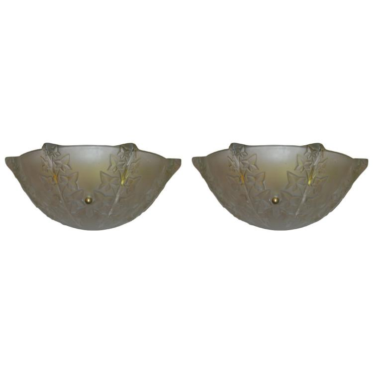 """Rene Lalique  """"Lierre"""" Wall Sconce"""