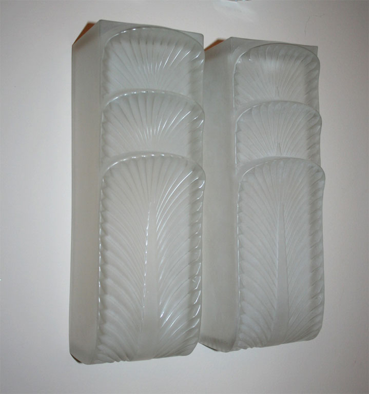 "Wall Sconces ""Languedoc"" by Rene Lalique"