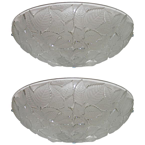 "Art Deco Wall Sconces by Rene Lalique ""Charmes"""