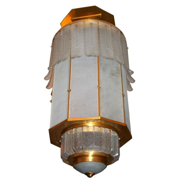 Art Deco Monumental Lantern by SABINO