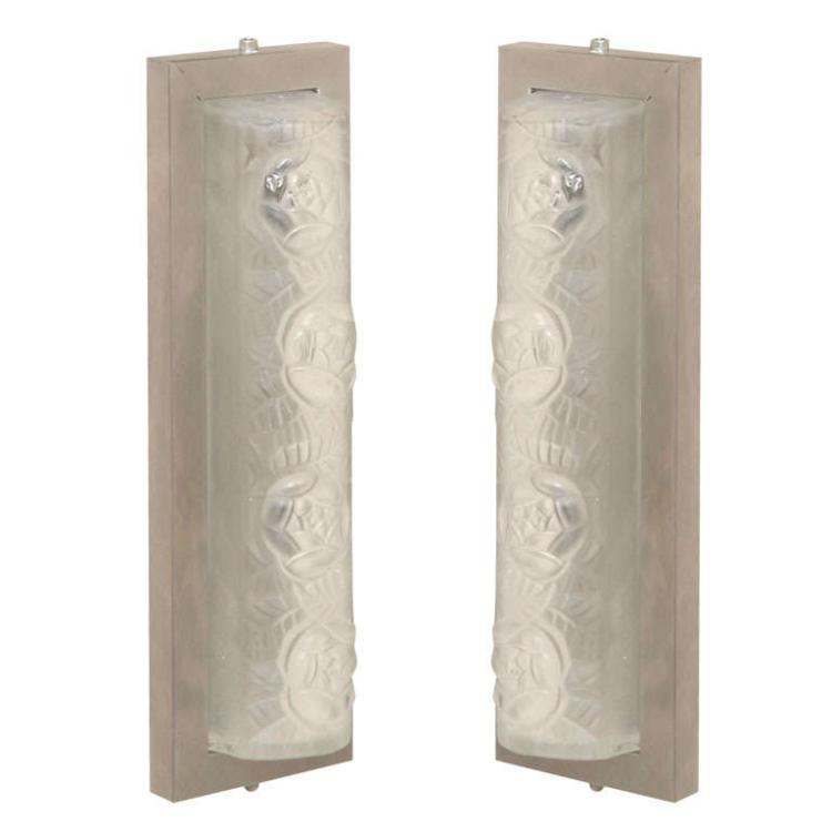 Pair of Art Deco Sconces by Degue