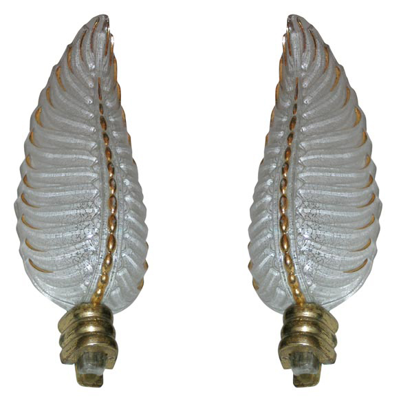 Pair of 1940's Wall Sconces by Ezan
