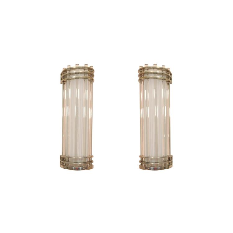 Pair of Modernist Wall Sconces by SABINO