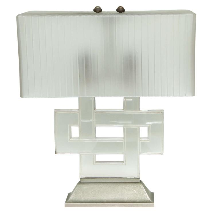 "Art Deco Table Lamp ""Entrelacs"" by Rene Lalique"