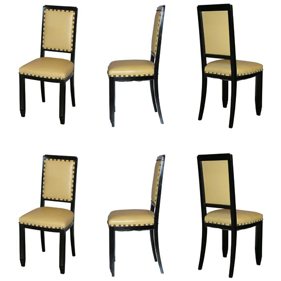 Set of 6 Art Deco Chairs