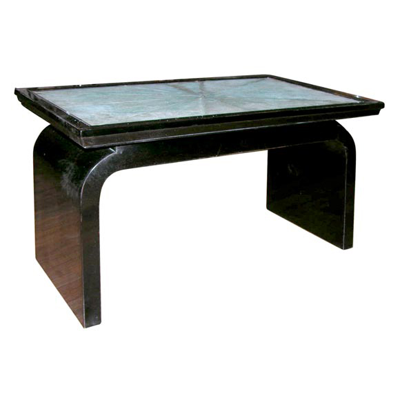 DSCN4508 French Art Deco Shagreen Occasional Table