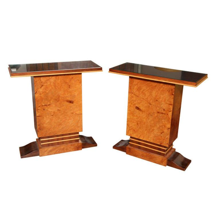 Pair of French Art Deco Side Tables