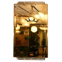 Art Deco Mirror with R. Lalique Glass