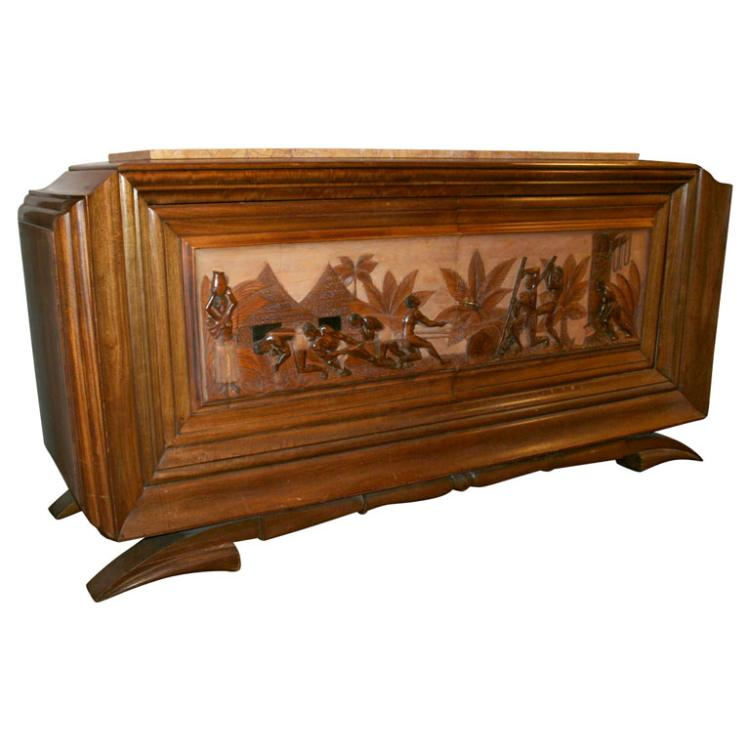 A Figural French Art Deco Buffet by Dominique