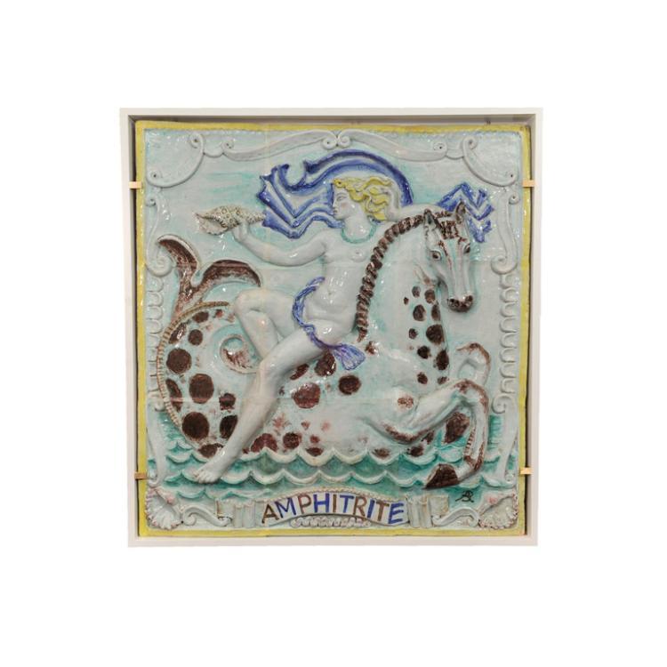 A Rare Art Deco Ceramics Panel by RENE BUTHAUD