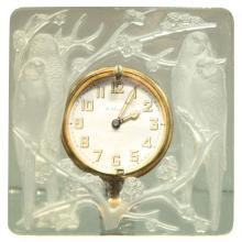 """Art Deco Clock """"Inseparables"""" by Rene Lalique"""
