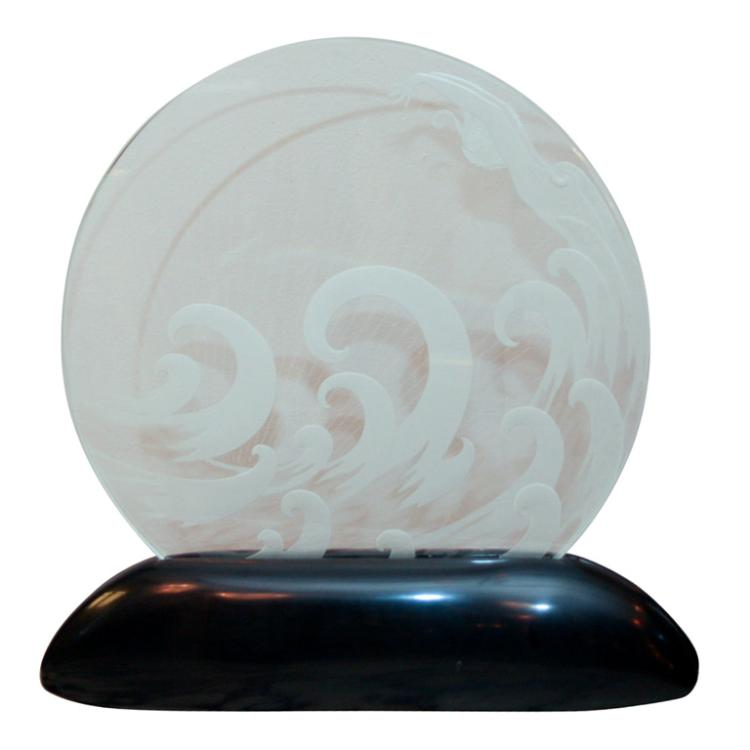 "Art Deco Luminaire ""The Wave"" by ERTE"