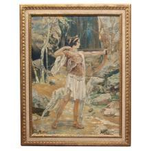 """""""Diana"""", oil on canvas by M. De Wilde"""