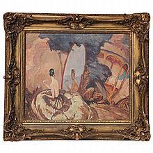 "Jean-Gabriel Domergue ""Eve Looking in the Mirror"", Circa 1920"