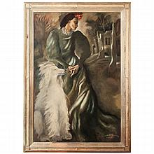 Large Art Deco Painting by Mariette Lydis