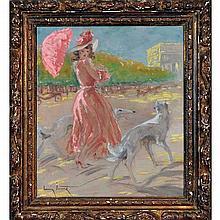 Louis Icart (1888-1950) Champs Elysees