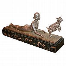 Art Deco Bronze Sculpture by JOSEPH D'ASTE