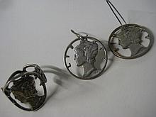 Silver Dimes Jewelry Set