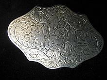 German Silver Ladies Belt Buckle