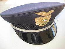 California Police Hat, Badge